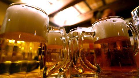 Beer has a global average water footprint of 1,420 liters per kg. One glass of beer (250 ml) costs 74 liters of water.