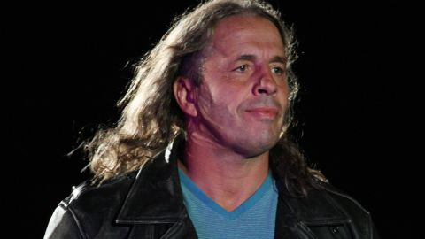 """Bret """"The Hitman"""" Hart serves as special guest referee during the WWE Smackdown Live Tour in Durban, South Africa, in 2011."""