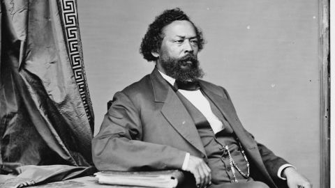 Portrait of Benjamin S. Turner, an ex-slave and one of the first African Americans elected to the United States Congress.