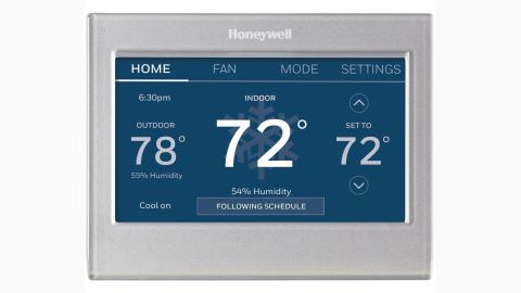 """<strong>Honeywell Smart Wi-Fi Touch Thermostat ($159, originally $199; </strong><a href=""""https://www.homedepot.com/p/Honeywell-Smart-Wi-Fi-7-Day-Programmable-Color-Touch-Thermostat-Works-with-Amazon-Alexa-SmartThings-Google-Home-IFTTT-RTH9585WF/301665800"""" target=""""_blank"""" target=""""_blank""""><strong>homedepot.com</strong></a><strong>)</strong>"""
