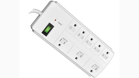 """<strong>Go Green Power 8-Outlet Surge Protector ($11.45, originally $17.99; </strong><a href=""""https://www.homedepot.com/p/Go-Green-Power-8-Outlet-6-ft-Cord-Surge-Protector-Lighted-Rocker-Switch-White-GG-18316WH/207099715"""" target=""""_blank"""" target=""""_blank""""><strong>homedepot.com</strong></a><strong>)</strong>"""