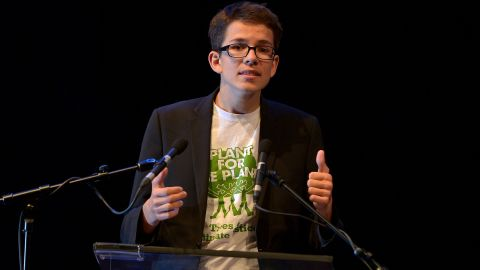 Felix Finkbeiner founded Plant for the Planet in 2007, when he was just nine years old. He is now a PhD student at Tom Crowther's lab at ETH Zurich. He's pictured at an award ceremony in 2015.
