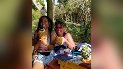 Cheryl Freeman and Portia Ravenelle in Samama, Dominican Republic.