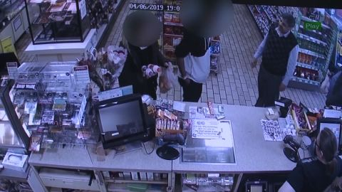 Surveillance video shows 7-Eleven owner Jitendra Singh confronting a shoplifter on Saturday night.