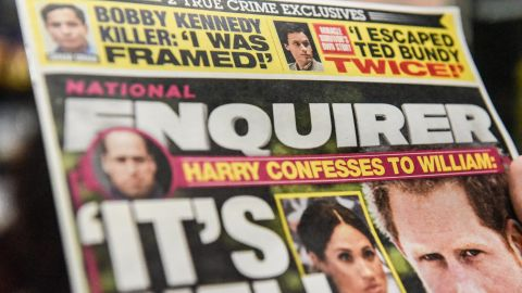 NEW YORK, NY - FEBRUARY 08: The National Enquirer is photographed at a convenience store on February 8, 2019 in New York City. Jeff Bezos, CEO of Amazon is accusing the David J. Pecker, publisher of National Enquirer, the nations leading supermarket tabloid, of extortion and blackmail. (Photo by Stephanie Keith/Getty Images)