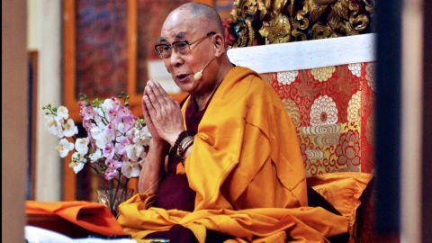The Dalai Lama speaks at an event in Dharamshala, India, in June 2018.