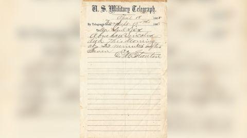 The original telegram.