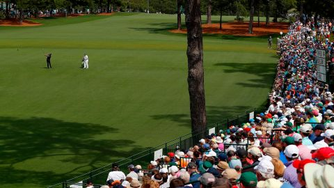 Veteran Mickelson was playing his 100th round at the Masters Friday.