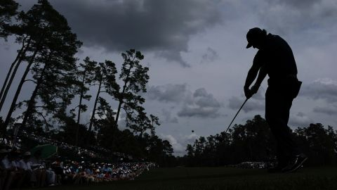 Left-hander Mickelson could become the oldest Masters champion -- he is only three shots off the lead.
