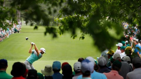 World No.2 Dustin Johnson was in a group on six under alongside Woods at the halfway stage.