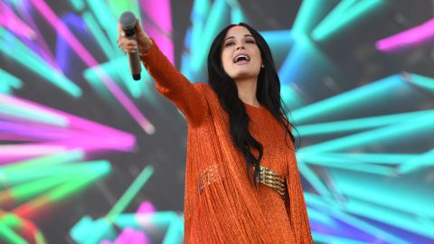 Singer-songwriter Kacey Musgraves performs Friday at the Coachella Valley Music and Arts Festival in Indio, California.
