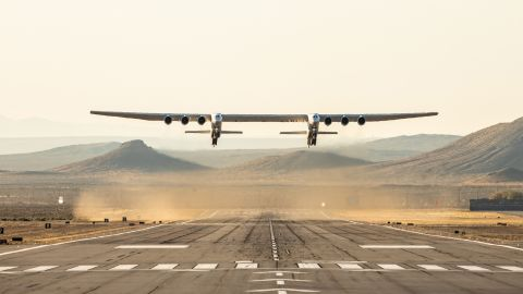 The world's biggest plane's wingspan measures longer than a football field.