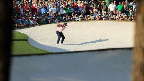 Italy's British Open champion Molinari was the leader after three rounds at Augusta.