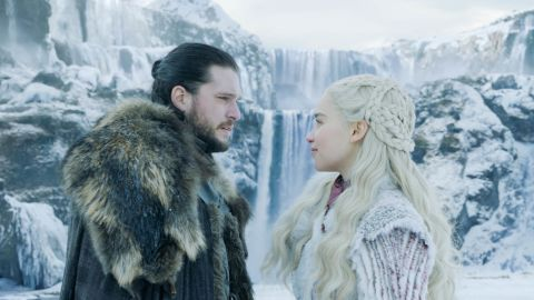 Jon Snow and Daenerys Targaryen, two of the main characters in Game of Thrones.