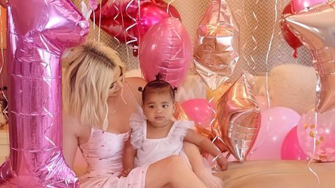 Khloe Kardashian celebrated her daughter True's first birthday.