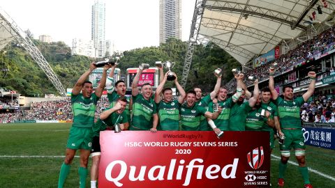 Meanwhile, Ireland earned core team status in next season's series after defeating host Hong Kong 28-7 in the final of the qualifier event.