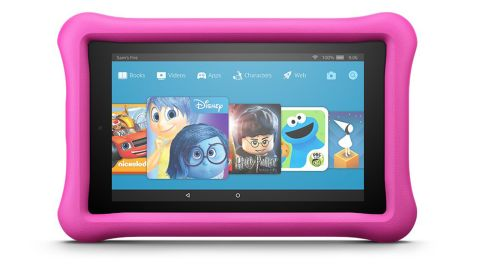 """<a href=""""https://amzn.to/2DgwYXr"""" target=""""_blank"""" target=""""_blank""""><strong>Fire 7 Kids Edition Tablet ($69.99, originally $99.99; amazon.com)</strong></a>"""