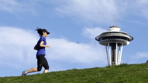 Greater than 10% of Seattle's residents walk to work.