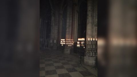 CNN's Nic Robertson obtained these exclusive videos/photos from the ground that show the damage inside Notre Dame Cathedral after the fire.