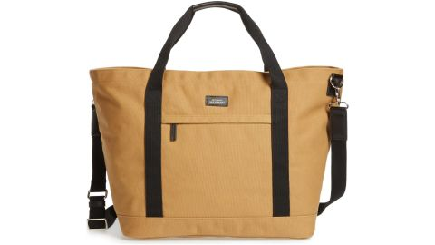 """<strong>Saturdays NYC Weekend Water Repellent Tote Bag ($107.49, originally $215.00; </strong><a href=""""https://click.linksynergy.com/deeplink?id=Fr/49/7rhGg&mid=1237&u1=0416nordspringsale&murl=https%3A%2F%2Fshop.nordstrom.com%2Fs%2Fsaturdays-nyc-weekend-water-repellent-tote-bag%2F5304104%3Forigin%3Dcategory-personalizedsort%26breadcrumb%3DHome%252FSale%252FMen%26color%3Dburnt%2520khaki"""" target=""""_blank"""" target=""""_blank""""><strong>shop.nordstrom.com</strong></a><strong>)</strong>"""