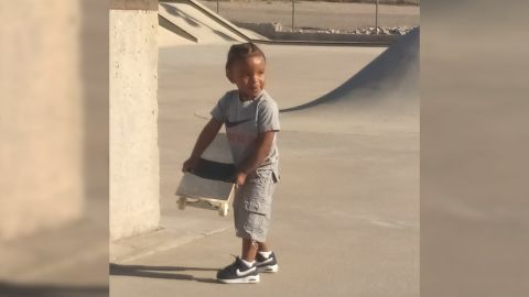 Ja'Ceon at the skatepark, now as a toddler.