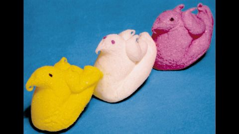 In 1953, Just Born acquired Rodda Candy Co., which originally made the candy we know as Peeps -- but with wings.