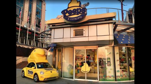 The first Peeps store opened in 2009 in National Harbor, outside Washington.