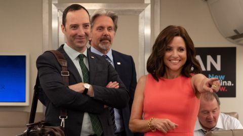 Tony Hale, Gary Cole and Julia Louis-Dreyfus in 'Veep'