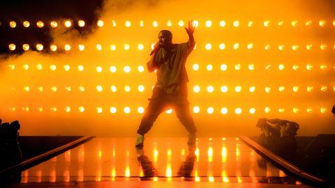 Recording artist Kanye West performs onstage at the 2015 iHeartRadio Music Festival at MGM Grand Garden Arena on September 18, 2015 in Las Vegas, Nevada. (Photo by Christopher Polk/Getty Images for iHeartMedia)
