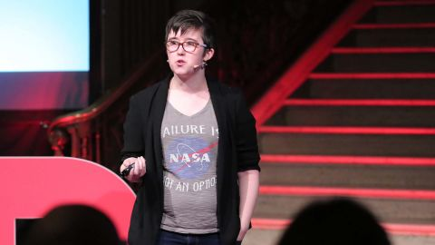 McKee spoke at the TEDxStormont Women 2017 event in November 2017.