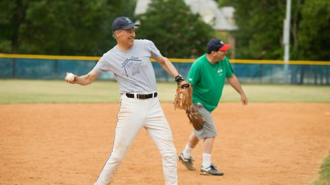 Inslee fields a ground ball while practicing for the annual Congressional Baseball Game in 2011. He served in the House from 1993-1995 and 1999-2012.