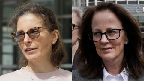 Clare Bronfman, left, and Kathy Russell entered guilty pleas on Friday.