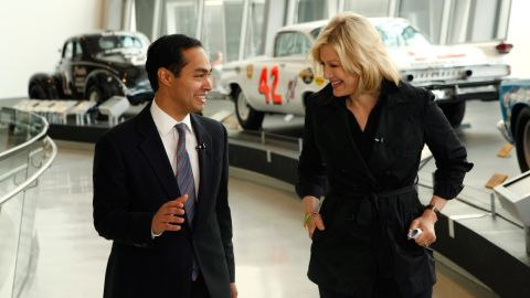 Castro is interviewed by ABC's Diane Sawyer in September 2012. They were in Charlotte, North Carolina, for the Democratic National Convention.