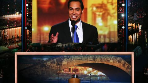 """""""My family's story isn't special. What's special is the America that makes our story possible,"""" Castro said in <a href=""""https://www.cnn.com/2012/09/04/politics/julian-castro-profile/index.html"""" target=""""_blank"""">his convention speech.</a> """"Ours is a nation like no other -- a place where great journeys can be made in a single generation ... no matter who you are or where you come from, the path is always forward."""""""