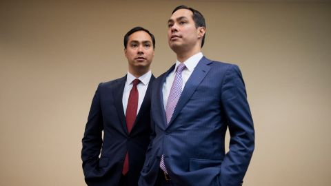 Julian Castro, right, is one minute older than his brother. Joaquin Castro has represented Texas' 20th congressional district since 2013.