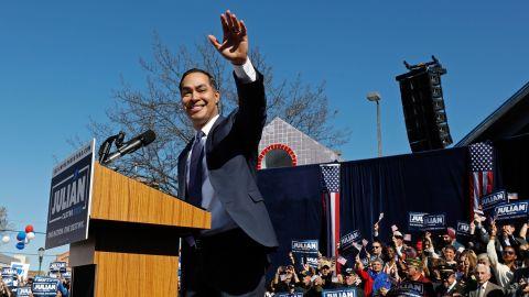 Castro announces his presidential bid in San Antonio in January 2019.