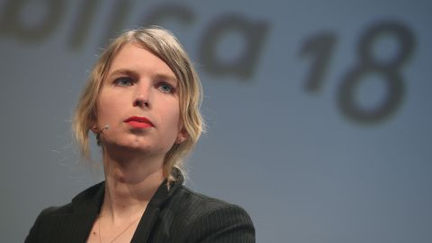 Whistle blower and activist Chelsea Manning, in what she said is her first strip outside of the United States since she was released from a U.S. prison, speaks at the annual re:publica conferences on their opening day on May 2, 2018 in Berlin, Germany. (Sean Gallup/Getty Images)