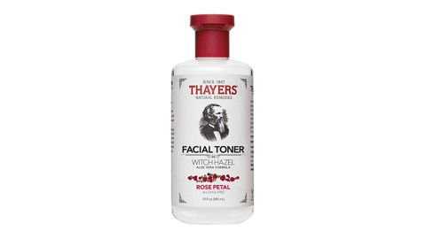 """<strong>Thayers Rose Petal Face Toner ($8.76; </strong><a href=""""https://www.amazon.com/Thayer-Witch-Toner-Rose-Alc-Fr-liquid/dp/B007HD570Q/ref=as_li_ss_tl?th=1&linkCode=ll1&tag=021850fivestar-20&linkId=a6b8af302ae80b1f7b98d836a7ff38cc&language=en_US"""" target=""""_blank"""" target=""""_blank""""><strong>amazon.com</strong></a><strong>)</strong><br />"""