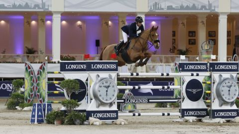 <strong>Doha:</strong> France's Julien Epaillard and Usual Suspect d'Auge raced to victory in the jump-off in the season opener in Doha.