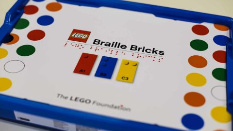 Lego Braille Bricks will feature the Braille alphabet as well as numbers, math symbols and teaching devices.