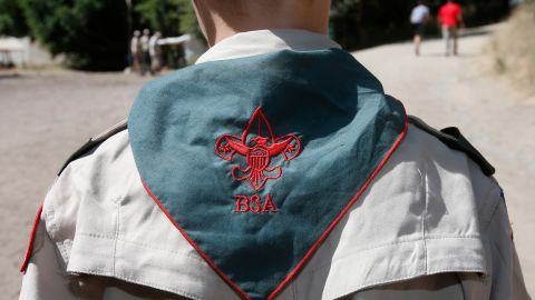 A Boy Scout listens to instruction at camp Maple Dell on July 31, 2015 outside Payson, Utah.