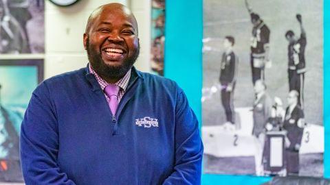 Rodney Robinson, 40, teaches at Virgie Binford Education Center, a school inside the Richmond Juvenile Detention Center.