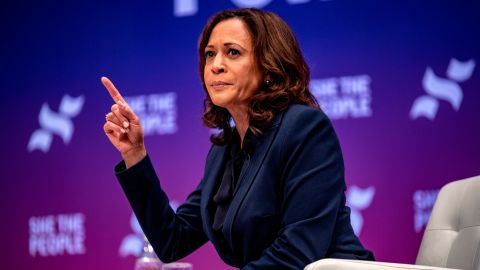 Sen. Kamala Harris speaks to a crowd at the She The People Presidential Forum at Texas Southern University on April 24, 2019 in Houston, Texas.