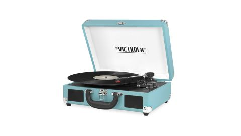 """<strong>Victrola Vintage 3-Speed Bluetooth Suitcase Turntable with Speakers ($42.75, originally $69.99; </strong><a href=""""https://amzn.to/2GADr07"""" target=""""_blank"""" target=""""_blank""""><strong>amazon.com</strong></a><strong>)</strong><br />"""