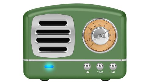 "<strong>Dosmix Wireless Stereo Retro Speaker ($18.89; </strong><a href=""https://amzn.to/2XIXbWm"" target=""_blank"" target=""_blank""><strong>amazon.com</strong></a><strong>)</strong>"