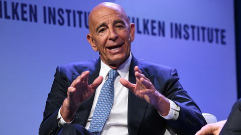 BEVERLY HILLS, CA - APRIL 29:  Thomas Barrack, Executive Chairman and CEO, Colony Capital, participates in a panel discussion during the annual Milken Institute Global Conference at The Beverly Hilton Hotel on April 28, 2019 in Beverly Hills, California.  (Photo by Michael Kovac/Getty Images)