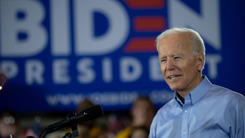 Former U.S. Vice President Joe Biden speaks at a campaign rally at Teamsters Local 249 Union Hall April 29, 2019 in Pittsburgh, Pennsylvania. Biden began his first full week of campaigning for president by speaking on how to rebuild America's middle class. (Photo by Jeff Swensen/Getty Images)