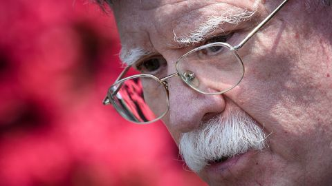US National Security Advisor John Bolton speaks to reporters about Venezuela outside the West Wing of the White House  April 30, 2019, in Washington, DC. (Photo by Brendan Smialowski / AFP)        (Photo credit should read BRENDAN SMIALOWSKI/AFP/Getty Images)