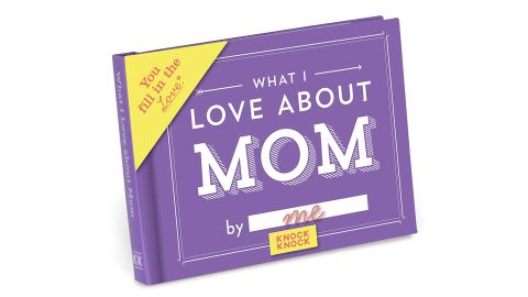 """<strong>Knock Knock What I Love About Mom Fill in the Love Journal ($10; </strong><a href=""""https://amzn.to/2PHCfMu"""" target=""""_blank"""" target=""""_blank""""><strong>amazon.com</strong></a><strong>)</strong><br />Write down all of the reasons you love mom in this Fill in the Love Journal<br />"""