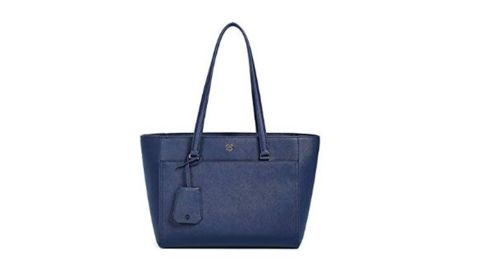 """<strong>Tory Burch Women's Robinson Small Tote ($297.50; </strong><a href=""""https://amzn.to/2DJEs5p"""" target=""""_blank"""" target=""""_blank""""><strong>amazon.com</strong></a><strong>)</strong><br />This Tory Burch tote is chic and timeless and perfect for any fashion-loving mom<br />"""